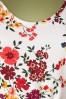 Lady Vintage 30854 Swingdress White Floral Charlotte 07192019 000004W