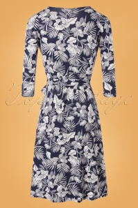 TOPVBC 31172 Swingdress Navy White Floral 07222019 000009W