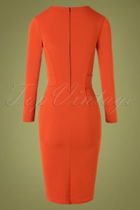 Vintage Chic 31150 Pencildress Cinnamon 07222019 000004W