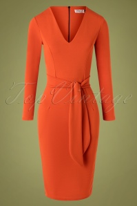 Vintage Chic for TopVintage 50s Chrissie Pencil Dress in Cinnamon