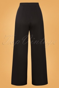 Vintage Chic 31184 Pants Black Wide Gold 07222019 000011W