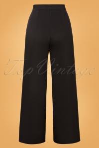 Vintage Chic 31184 Pants Black Wide Gold 07222019 000011W