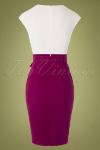 Paper Dolls 28886 Pencildress White Aubergine Bodycon 07222019 000010W