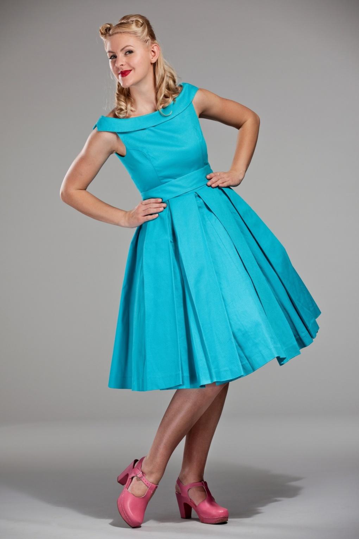 60s celebration dress in turquoise. Black Bedroom Furniture Sets. Home Design Ideas