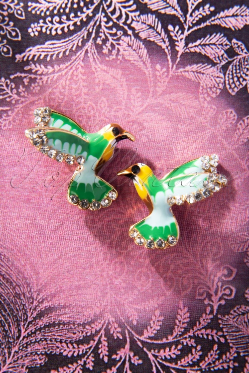 TopVintage Boutique Collection 30494 Hommingbird Earrings 20190719 009W