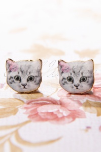 TopVintage Boutique Collection 30493 Cats Earrings 20190719 020W