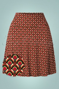 60s Calypso Borderskirt in Cherry Red