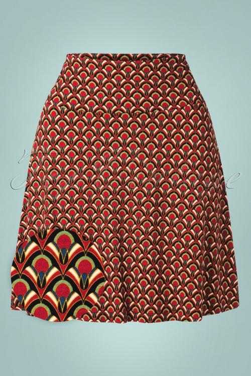 King Louie 29418 Border Skirt Calypso Cherry red20190620 003W1