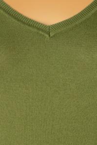 King Louie 29446 Diamond Knit Top Cottonclub Olive green20190621 004W