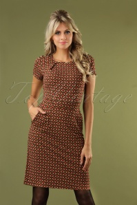 King Louie 60s Mona Calypso Dress in Cherry Red