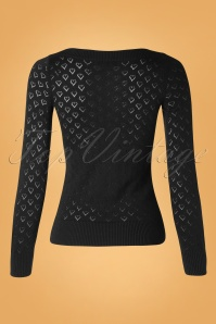 King Louie 29488 Audrey Heart Top Ajour Black 0190621 005W