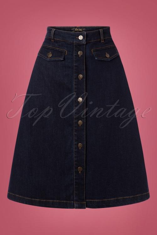 King Louie 29382 Caroll Skirt in Denim  20190722 003W