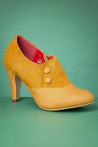 50s Maria Booties in Mustard