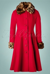 Hell Bunny 30750 Coat Red Leopard Robinson 2019 004W