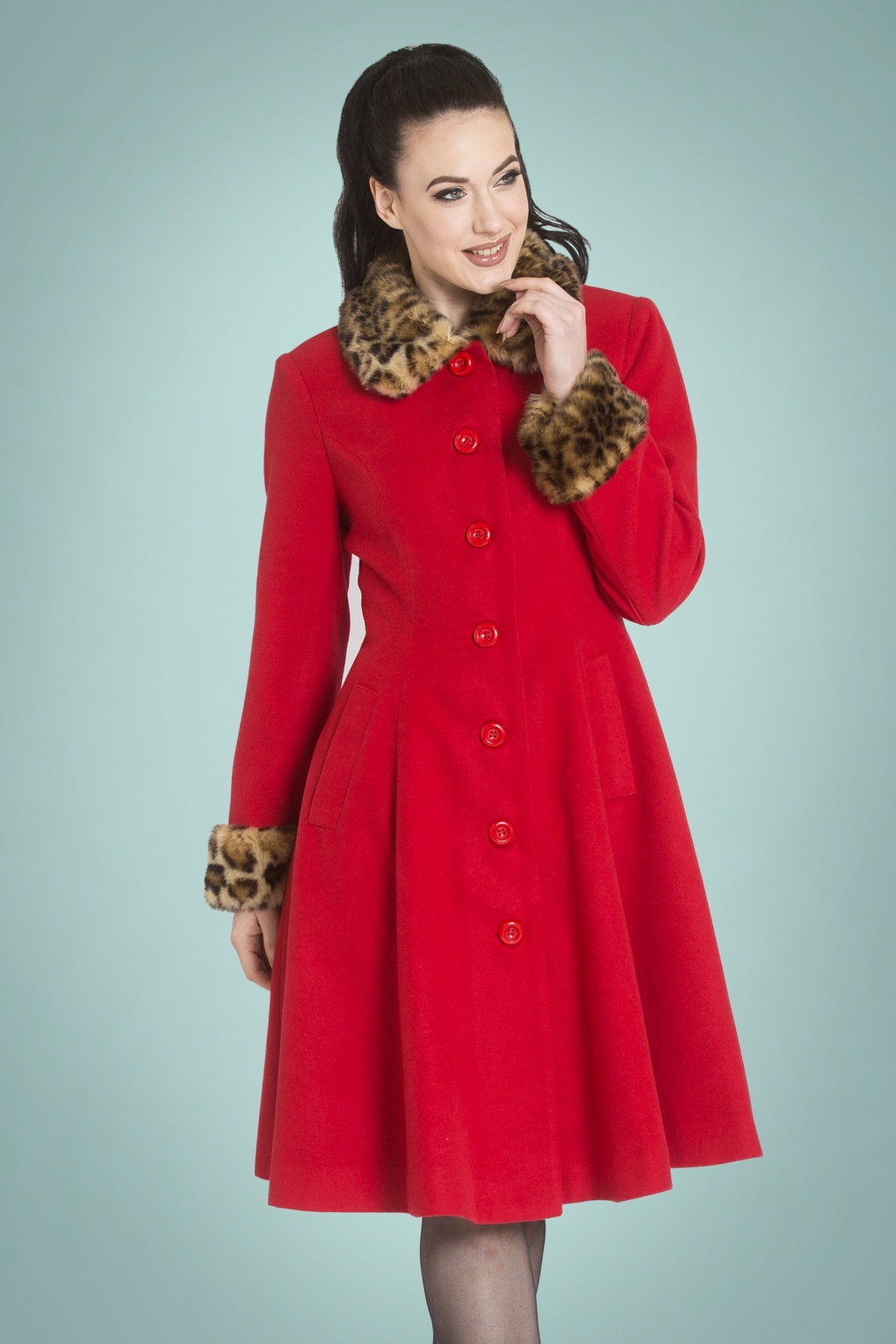 Vintage Coats & Jackets | Retro Coats and Jackets 50s Robinson Coat in Red £129.26 AT vintagedancer.com