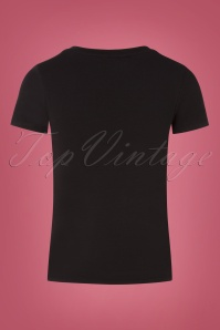 Queen Kerosin 31323 Damen T Shirt in Black 20190725 004W
