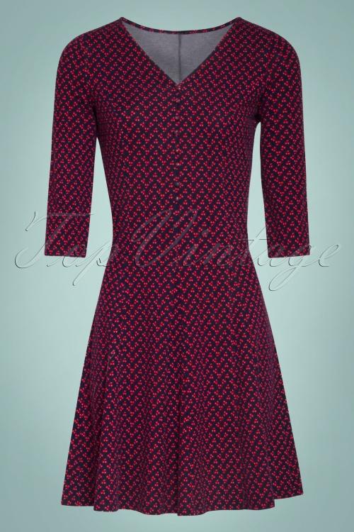 Smashed Lemon 30201 Navy Red Cherry Dress 20190723 020LW