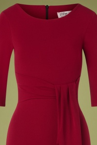 Vintage Chic 31166 Pencil Dress in Wine Red 20190725 003V