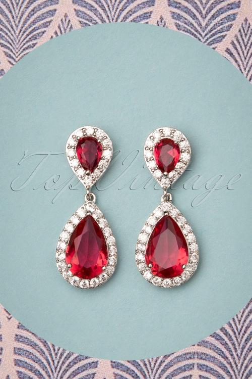Collectif 30469 Yvonne Earring Red20190725 001W