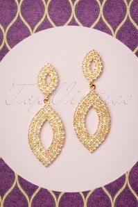 50s Maxwell Earrings in Pale Gold