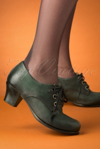 40s Frazier Shoe Booties in Forest Green
