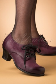 40s Frazier Shoe Booties in Wine