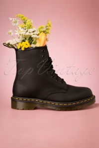 1460 Greasy Ankle Boots in Black