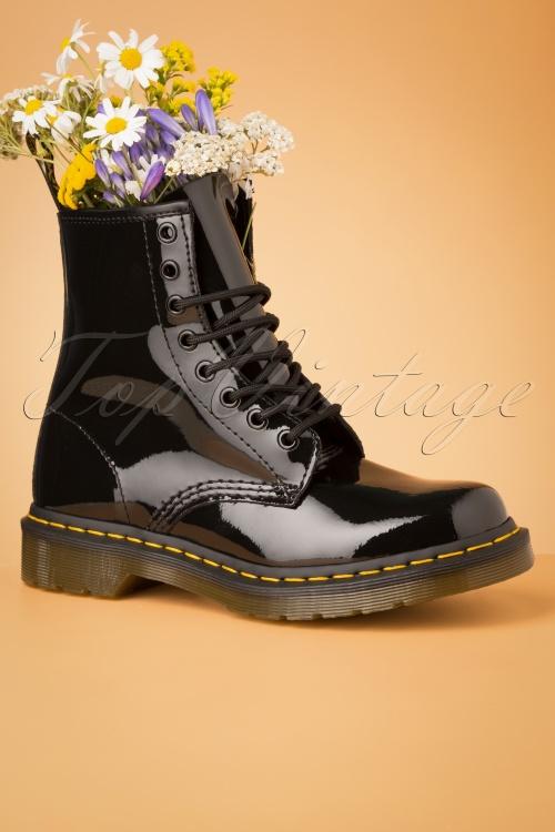 Dr Martens 29095 Docs Boots Black Pantent Lamper 20190723 004
