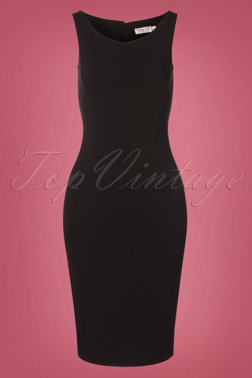Vintage Chic 31142 Black Sleeveless Pencil Dress 20190725 001W