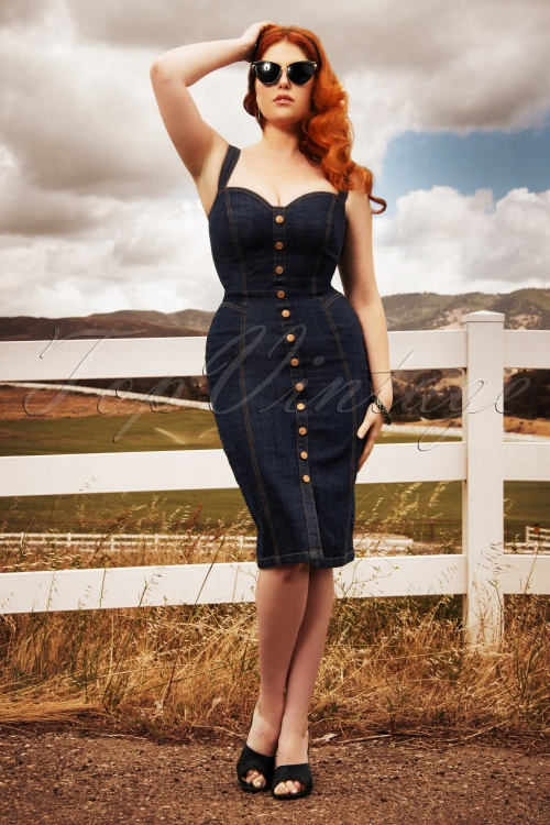 Rockabooty  00000 Bettie Denim Dress 20190509 0763W