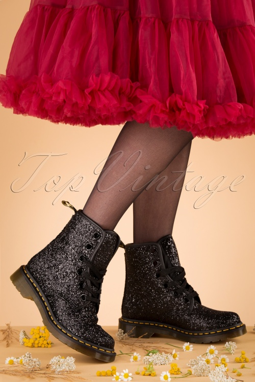 free shipping affordable price new lower prices 1460 Farrah Chunky Glitter Ankle Boots in Black