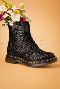 Dr Martens 29100 Docs Boots Black Chunky Glitter  20190723 018 W