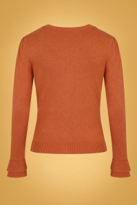 Collectif 31219 Serenity Plain Cardigan Orange 20190725 021L