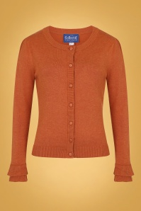 50s Serenity Cardigan in Burnt Orange