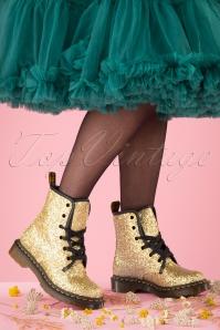 Dr Martens 29101 Farah Gold Glitter Docs Boots 20190724 028 W