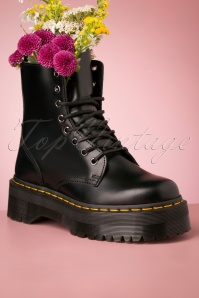Dr. Martens Jadon Smooth Platform Ankle Boots in Black