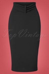 50s Michelle Pencil Skirt in Black