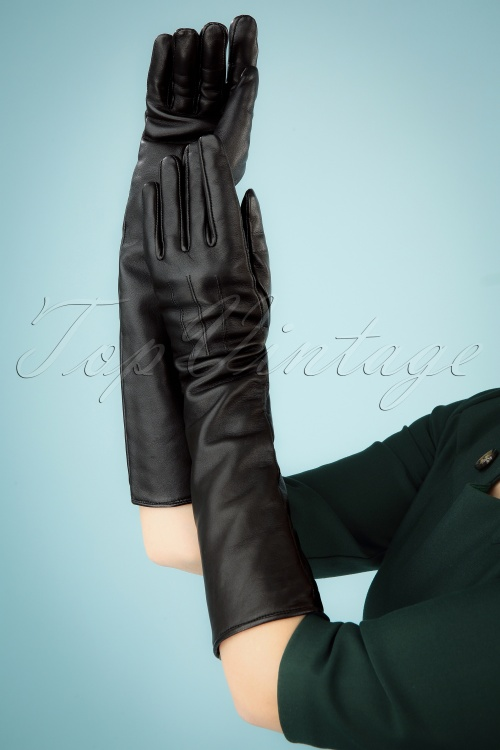 Vintage Diva Gloves Black 2 W
