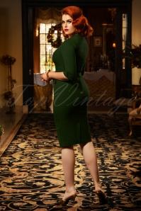 Vintage Diva 29624 Lauren Pencil Dress in Green 20190408 1W