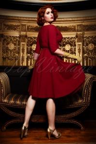 Vintage Diva 29632 Jane Swing Dress in Bordeaux 2W