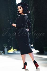 Vintage Diva 29629 Diane Pencil Dress in Black 20190408 2W