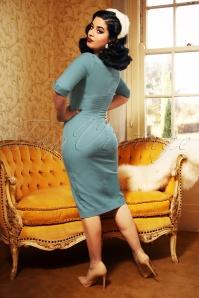 Vintage Diva 29614 Danae Pencil Dress in Ice Blue 20190408 2W
