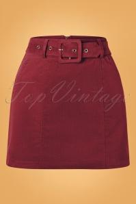 Louche 30122 Amir Burgundy Skirt 20190730 003W