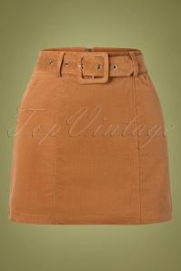 60s Amir Cord Mini Skirt in Tan