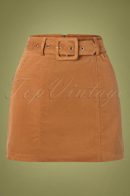 60s Skirts | 70s Hippie Skirts, Jumper Dresses 60s Amir Cord Mini Skirt in Tan £60.15 AT vintagedancer.com
