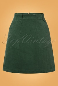 Louche 30130 Kris Corduroy Green Skirt 20190730 002W
