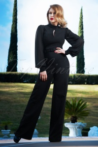 Vintage Diva 29615 Gloria Jumpsuit in Black 20190410 3W