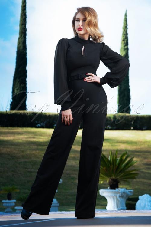 Vintage Diva 29615 Gloria Jumpsuit in Black 20190410 3W