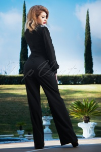 Vintage Diva 29615 Gloria Jumpsuit in Black 20190410 2W