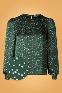 Louche 30131 Lime Speckle Green Blouse 20190730 003Z